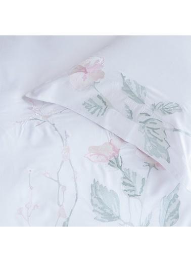 Chakra Helen Nevresim Seti Ekstra Çift Kişillik Beyaz Beyaz